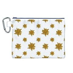Graphic Nature Motif Pattern Canvas Cosmetic Bag (l)