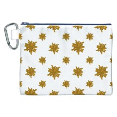 Graphic Nature Motif Pattern Canvas Cosmetic Bag (xxl)