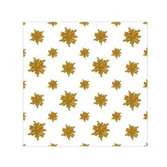 Graphic Nature Motif Pattern Small Satin Scarf (square)