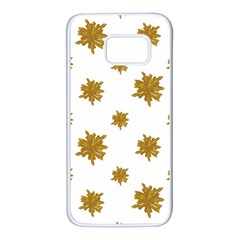 Graphic Nature Motif Pattern Samsung Galaxy S7 White Seamless Case