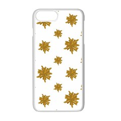 Graphic Nature Motif Pattern Apple Iphone 7 Plus White Seamless Case