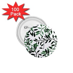 Botanical Leaves 1 75  Buttons (100 Pack)