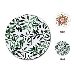 Botanical Leaves Playing Cards (round)