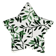 Botanical Leaves Star Ornament (two Sides)