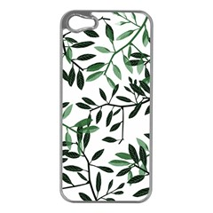 Botanical Leaves Apple Iphone 5 Case (silver)