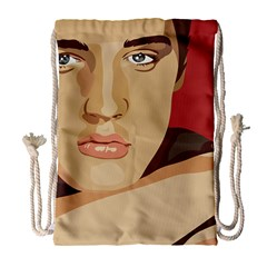 Elvis Presley Drawstring Bag (large)