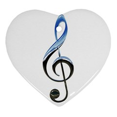 Musical Note  Ornament (heart)