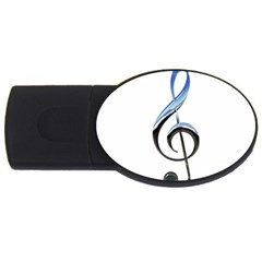 Musical Note  Usb Flash Drive Oval (2 Gb)