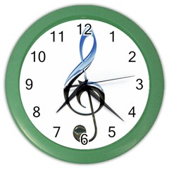 Musical Note  Color Wall Clocks
