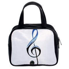 Musical Note  Classic Handbags (2 Sides)