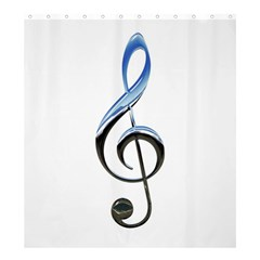 Musical Note  Shower Curtain 66  X 72  (large)