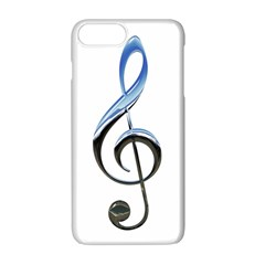 Musical Note  Apple Iphone 7 Plus White Seamless Case
