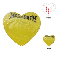 Megadeth Heavy Metal Playing Cards (heart)