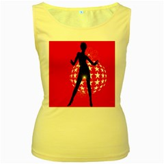 Sexy Lady Women s Yellow Tank Top