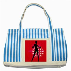 Sexy Lady Striped Blue Tote Bag