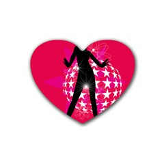 Sexy Lady Heart Coaster (4 Pack)