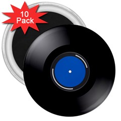 Vinyl Record 3  Magnets (10 Pack)