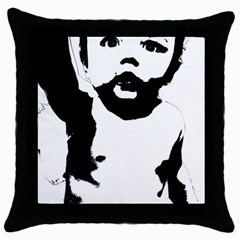 Cupid Throw Pillow Case (black)