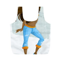 Sexy Woman Full Print Recycle Bags (m)
