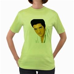Elvis  Women s Green T Shirt