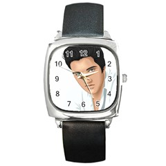 Elvis  Square Metal Watch