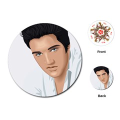 Elvis  Playing Cards (round)