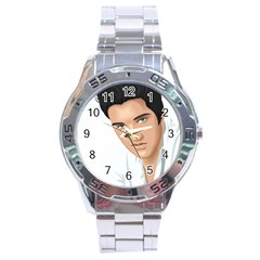 Elvis  Stainless Steel Analogue Watch