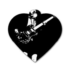 Angus Young  Dog Tag Heart (one Side)