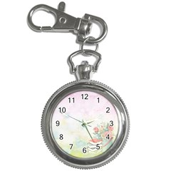 Romantic Watercolor Books And Flowers Key Chain Watches