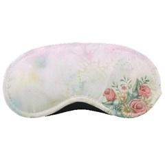 Romantic Watercolor Books And Flowers Sleeping Masks