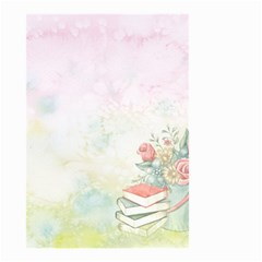 Romantic Watercolor Books And Flowers Small Garden Flag (two Sides)