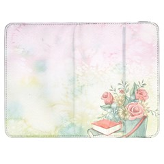 Romantic Watercolor Books And Flowers Samsung Galaxy Tab 7  P1000 Flip Case