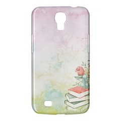 Romantic Watercolor Books And Flowers Samsung Galaxy Mega 6 3  I9200 Hardshell Case