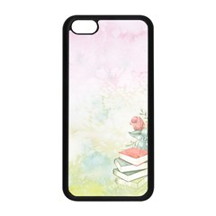 Romantic Watercolor Books And Flowers Apple Iphone 5c Seamless Case (black)