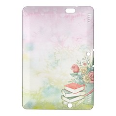 Romantic Watercolor Books And Flowers Kindle Fire Hdx 8 9  Hardshell Case