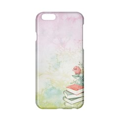 Romantic Watercolor Books And Flowers Apple Iphone 6/6s Hardshell Case