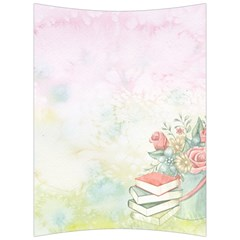 Romantic Watercolor Books And Flowers Back Support Cushion