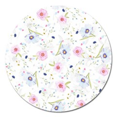 Floral Cute Girly Pattern Magnet 5  (round)