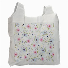 Floral Cute Girly Pattern Recycle Bag (two Side)