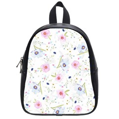 Floral Cute Girly Pattern School Bag (small)
