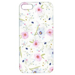 Floral Cute Girly Pattern Apple Iphone 5 Hardshell Case With Stand