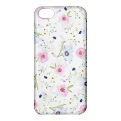 Floral Cute Girly Pattern Apple Iphone 5c Hardshell Case