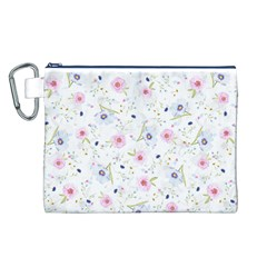 Floral Cute Girly Pattern Canvas Cosmetic Bag (l)