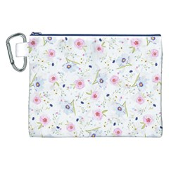 Floral Cute Girly Pattern Canvas Cosmetic Bag (xxl)