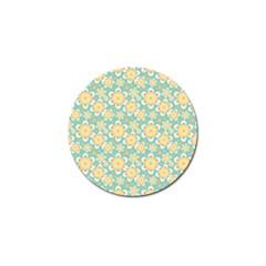 Seamless Pattern Blue Floral Golf Ball Marker