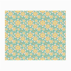 Seamless Pattern Blue Floral Small Glasses Cloth