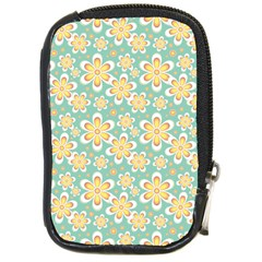 Seamless Pattern Blue Floral Compact Camera Cases