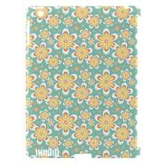 Seamless Pattern Blue Floral Apple Ipad 3/4 Hardshell Case (compatible With Smart Cover)