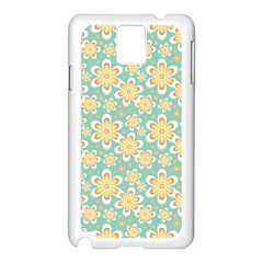 Seamless Pattern Blue Floral Samsung Galaxy Note 3 N9005 Case (white)