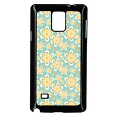 Seamless Pattern Blue Floral Samsung Galaxy Note 4 Case (black)